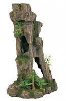 Декорация в аквариум и террариум Грот Trixie Скала с пещерой и растениями 17 см