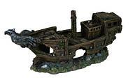 Декорация в аквариум и террариум Грот Trixie Обломки корабля с орлом 32 см