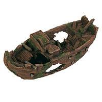 Декорация в аквариум и террариум Грот Trixie Затонувшая лодка 29 см