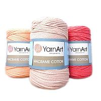 Турецкая хлопковая пряжа шнур макраме котон ЯрнАрт, YarnArt Macrame Cotton, все цвета