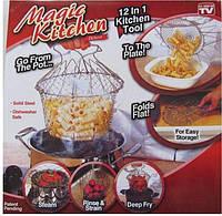 Складная решетка для приготовления блюд Magic Kitchen, Складна сітка для приготування страв Magic Kitchen