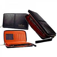 Портмоне Baellerry Leather Model 1 мужской кошелек для дешег, карточек, телефона, Кошельки, Гаманці
