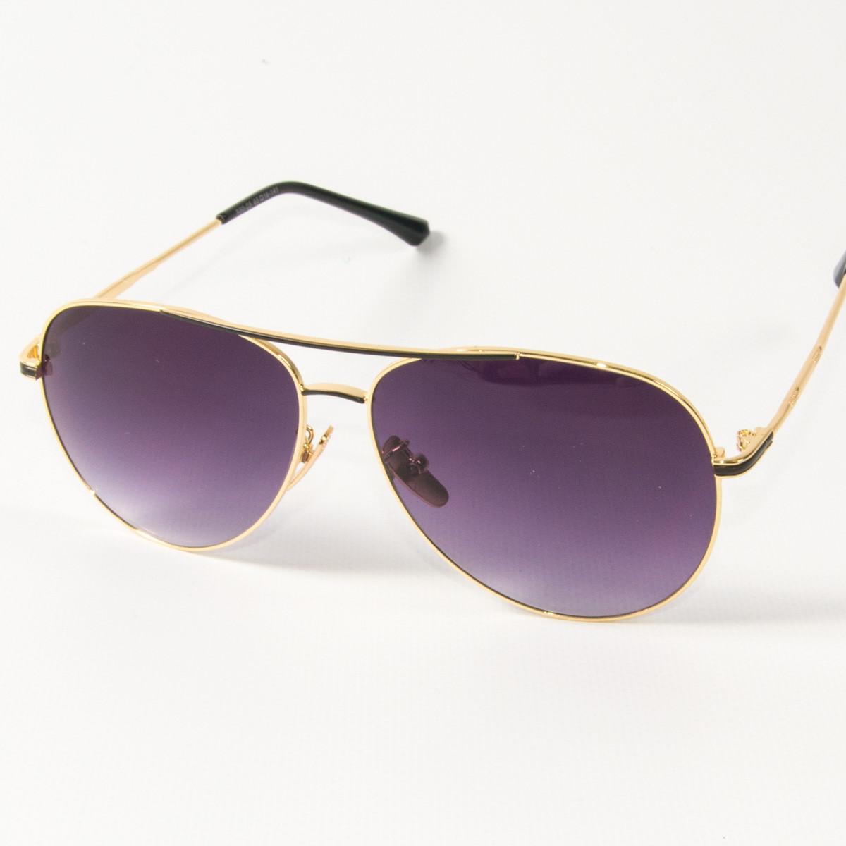 Оптом солнцезащитные очки авиаторы (арт. B80-05/5) фиолетовые