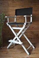 Высокий стул для визажиста, складной, деревянный, стул режиссера, стул для фото сессии,Белый
