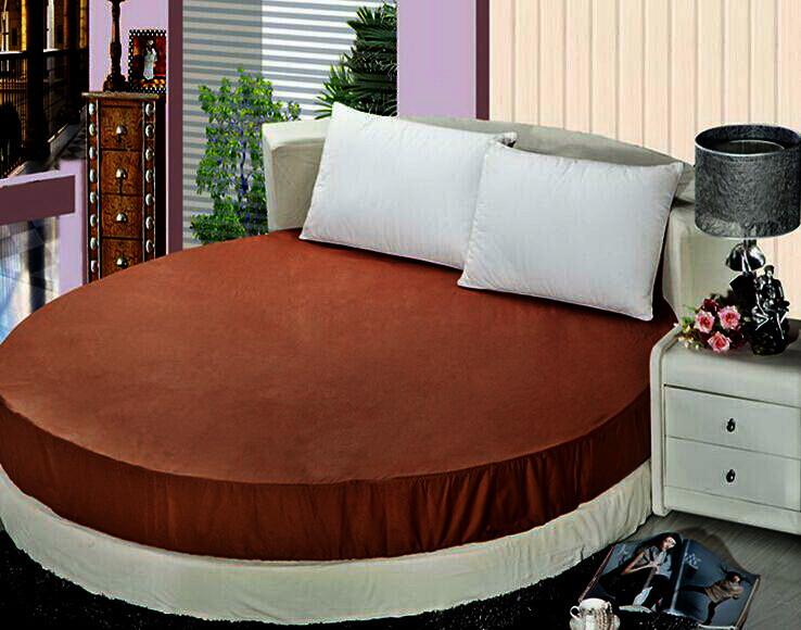 Круглая кровать. Простынь Модель 2 Коричневая