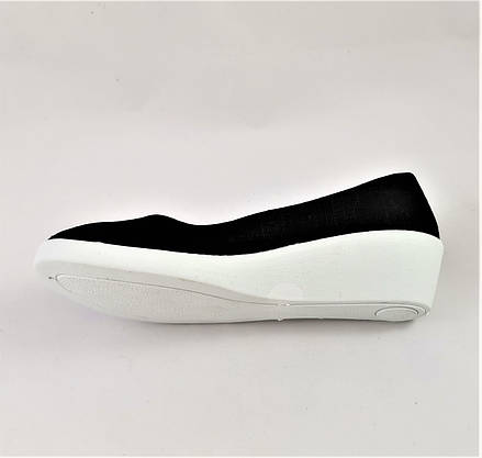 Женские Мокасины Чёрные Балетки Туфли на Танкетке (размеры: 37), фото 3