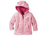 Розовый меховый батник c пингвином р.62/68 Lupilu Германия