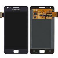 Дисплейный модуль (дисплей + сенсор) для Samsung Galaxy S2 Plus i9105, синий, оригинал