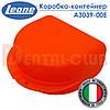 Коробка - контейнер для пластинок, трейнерів, капп та інших ортодонтичних апаратів, Leone (Леоне Італія) помаранчева A3039-00E