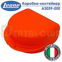 Коробка - контейнер для пластинок, трейнерів, капп та інших ортодонтичних апаратів, Leone (Леоне Італія) помаранчева A3039-00E, фото 1