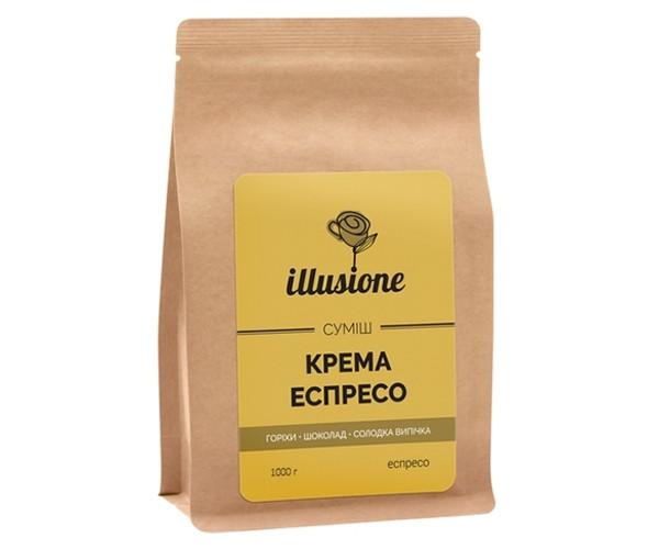 Кофе Illusione Crema Espresso Blend 80/20 в зернах 1000 г