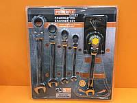 """Набір ключів комбінованих 8-10-13-14-17mm  з трещіткою """"PowerFix""""  1766."""