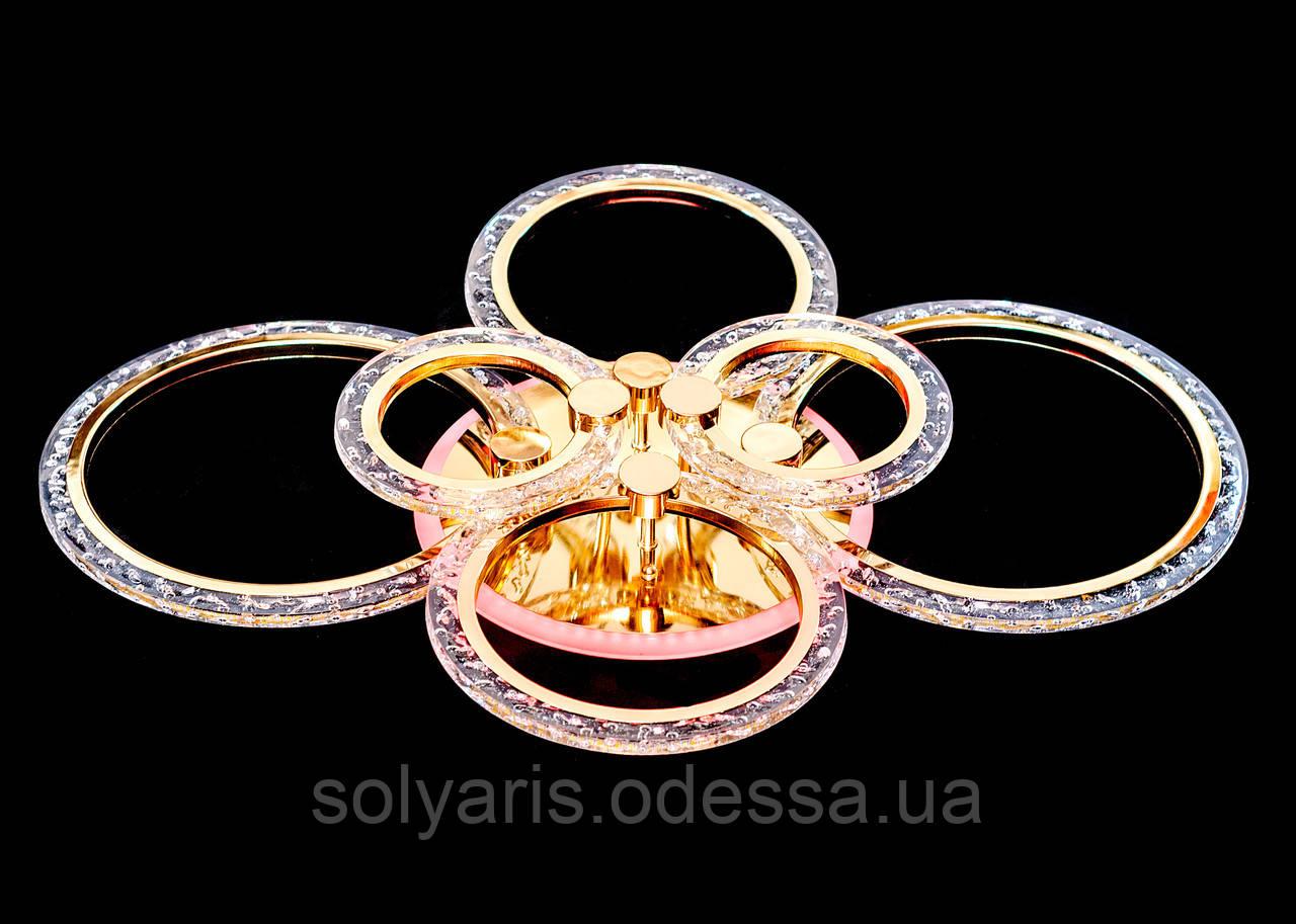 Люстра потолочная светодиодная MX2512-2+2+2 FG золото