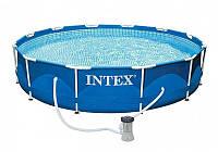 Бассейн каркасный, семейный бассейн  Intex каркасный 28212 фильтр-насос 2006л/ч, 6503 л. 11/117
