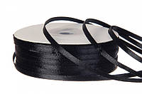 Лента атласная 3 мм (#39) (черный)