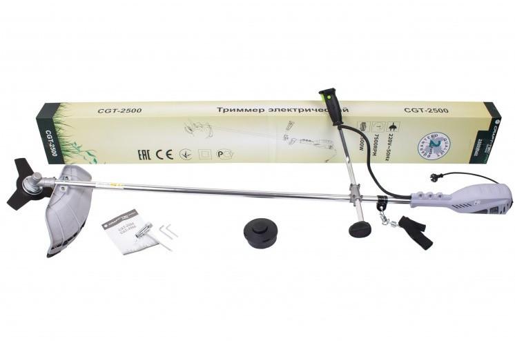 Электрокоса Craft-Tec CXGS-2500 (велосипедна ручка, цілісна штанга). Тример