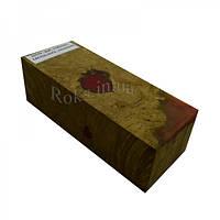 Стабилизированная древесина брусок Дуб CACTUS JUICE 131х53х42