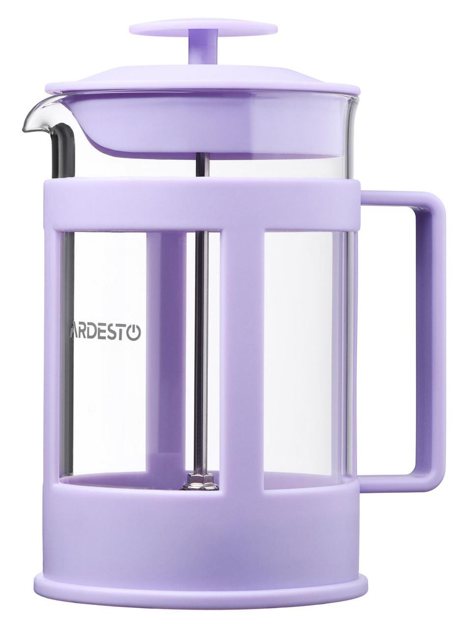 Заварник Ardesto Fresh 800 мл Пластик/ Скло Ліловий (AR1008LF)