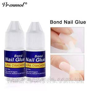 Клей ногтей, страз, типсов Bond Nail Glue , 3 g, фото 2