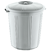 Бак для мусора пластиковый 50л с обычной крышкой