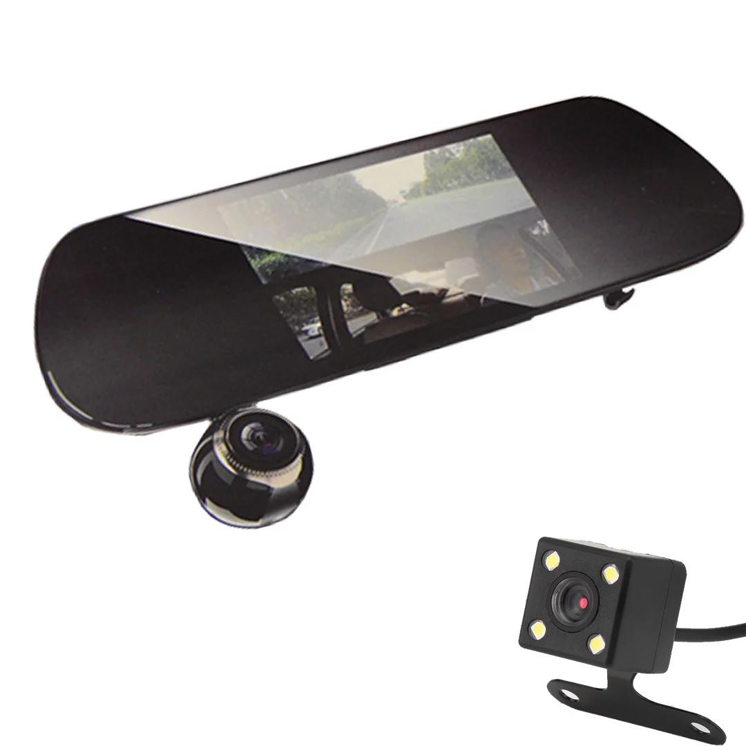 Зеркало-видеорегистратор  v9  с выносной камерой заднего вида+ПОДАРОК!