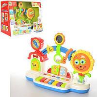 Игрушка для малышей, Пианино погремушка, развивающая музыкальная, светится, BB357