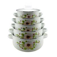 Набор эмалированых кастрюль UNIQUE UN-2357, Посуда, Посуд