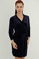 Велюровий халат на запах, фото 1