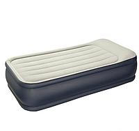 Односпальная надувная кровать с подголовником 64132,  99х191х42 см со встроенным насосом 220В