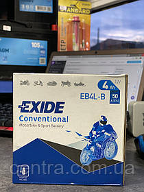Мото аккумулятор EXIDE EB4L-B