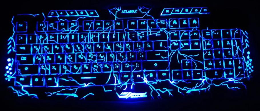 """Игровая клавиатура с подсветкой """"молния"""" Crack Tricolor M200, фото 2"""