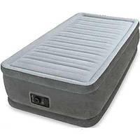 Односпальная надувная кровать, Надувной матрас 64412 Intex 99х191х46 (Twin) Твин, со встроенным насосом 11/40