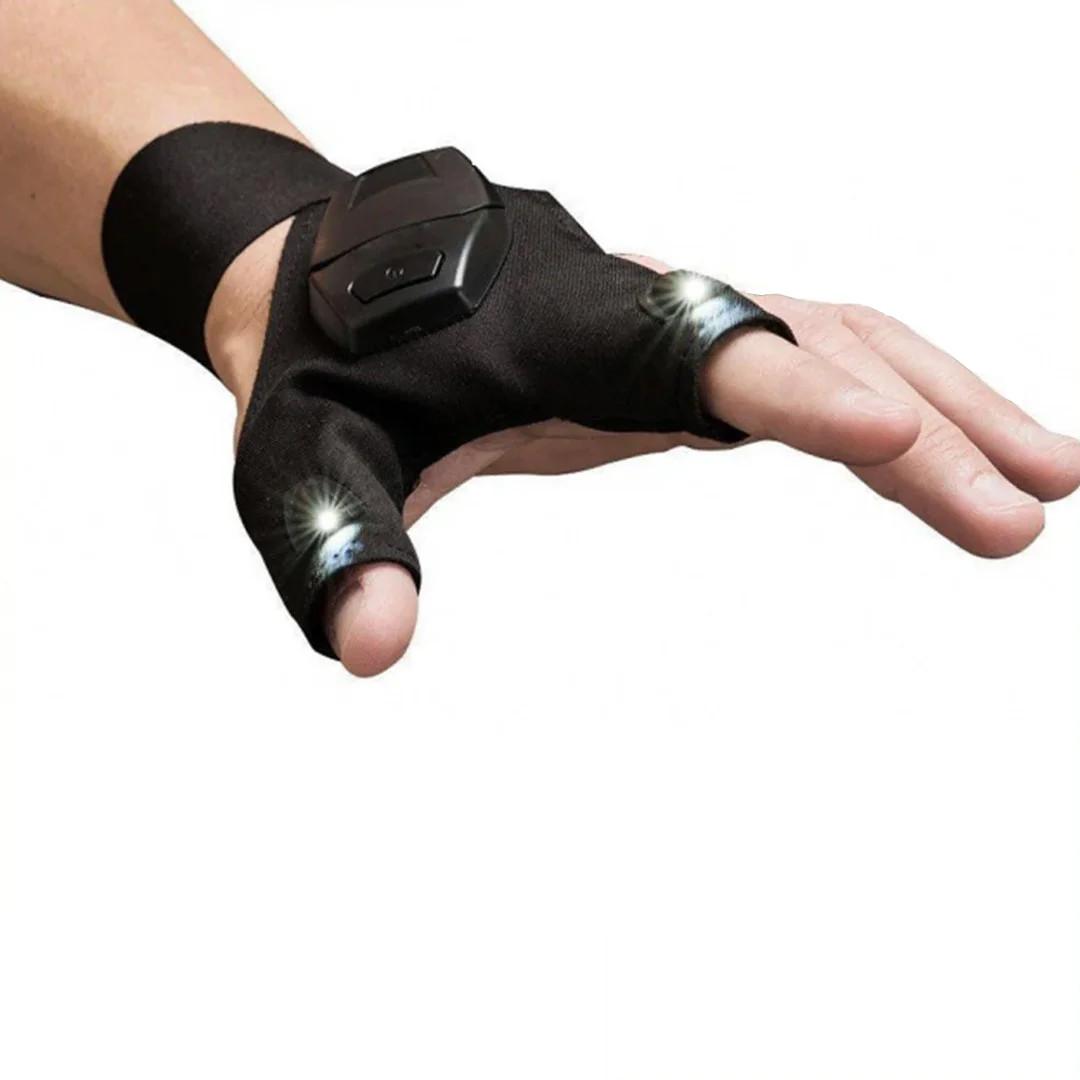 Перчатка Фонарик Светлячок на левую руку Черная