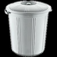 Бак для мусора пластиковый 70 л с обычной крышкой