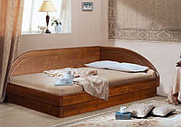 Деревянная кровать-тахта Онега угловая с подъемным механизмом