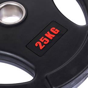 Диск олимпийский обрезиненный  25 кг d-51 мм Life Fintess, фото 2