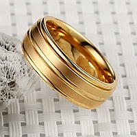 Кольцо из нержавеющей стали, золотистое анодирование, 1352КЖ
