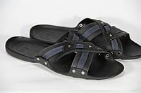 Мужские шлепки летние из натуральной кожи, летняя мужская обувь от производителя модель DF S 01