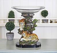 Статуетка з фруктовницей Пари Тигрів 26*23*23 ZY80556, фото 1