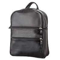 Рюкзак жіночий SHVIGEL 15304 шкіряний Чорний, Чорний
