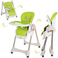 Детский стульчик-трансформер для кормления Bambi M 3216-2-5  зелёный 11/70.3