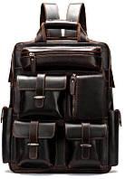 Рюкзак дорожній Vintage 14711 шкіряний Темно-Коричневий, Коричневий