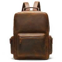 Рюкзак вінтажний для ноутбука Vintage 14712 шкіряний Коричневий, Коричневий