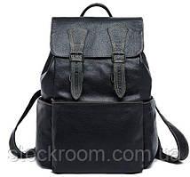Рюкзак Vintage 14842 шкіряний Чорний, Чорний