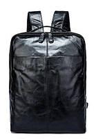 Рюкзак шкіряний під ноутбук Vintage 14845 Чорний, Чорний