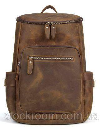 Дорожній рюкзак матовий Vintage 14887 Коньячний, Коричневий