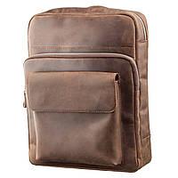 Рюкзак унісекс з матової шкіри SHVIGEL 11175 Коричневий, Коричневий