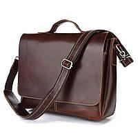 Мужской кожаный портфель Vintage 14099 Коричневый