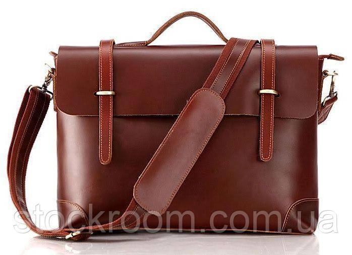 Портфель Vintage 14138 кожаный Коричневый, Коричневый