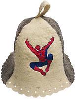 Шапка для бани и сауны детская Спайдермен